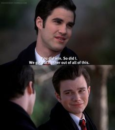 Blaine and Kurt. Just watched this episode today.!!!