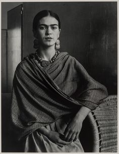 "Photo: Born #OnThisDay in 1907, #FridaKahlo was photographed by Imogen Cunningham in 1931. See the stunning portrait in a gallery dedicated to ""Kahlo and Her Circle,"" opening July 16."