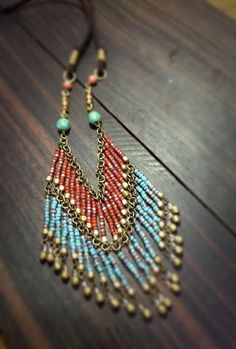 . necklace with seed beads