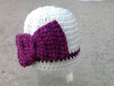 Sweet Girl's Bow Beanie Hat by Evermicha on Etsy, $20.00