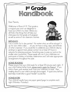 Editable Information Forms- Back to School