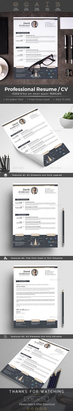 #Resume - Resumes Stationery Download here: https://graphicriver.net/item/resume/19243585?ref=alena994