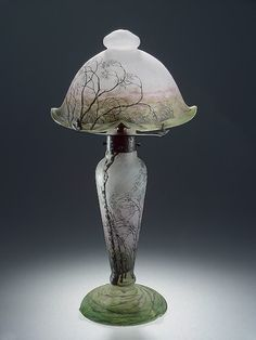 The colors! The Details!    Lamp  Daum Brothers, 1900  Hermitage Museum