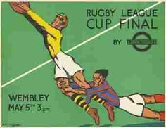 Vintage rugby league poster