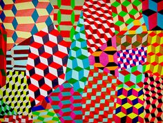 """Barry McGee """"Twist"""", Show, Tumbling blocks project!"""