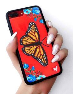 Schmetterling iPhone 6 + / 7 + / 8 + Plus Hülle - Wildflower cases - Phonecases Black Iphone 7 Plus, Iphone 6 Plus Case, Iphone Phone Cases, Cheap Phone Cases, Cute Phone Cases, Wildflower Phone Cases, Aesthetic Phone Case, Mobiles, Phones