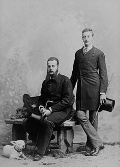 "The Grand Duke Alexei Alexandrovich Romanov of Russia and the Grand Duke Konstantin Konstantinovich Romanov of Russia.  ""AL"""