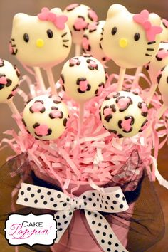Miss Kitty Cake Pops
