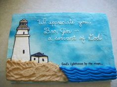 Lighthouse  Lighthouse Made for Pastor Appreciation Month  #featured-cakes #leannew #cakecentral