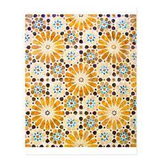islamic art patterns 13 postcard