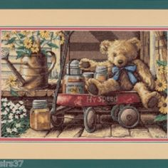 I checked out Kit Point de Croix Compté Counted Cross Stitch Kit Dimensions Ourson Honey Bear on Lish, € 35,28