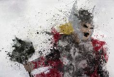 Thor splatter art.