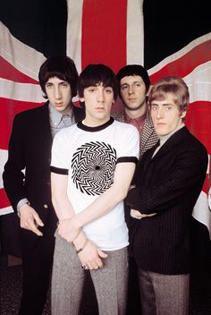 THE WHO - Peter Townshend, Keith Moon, John Entwistle, Roger Daltrey.  What can I say?  The Greatest Live Band in the history of Rock - now appearing in Heaven!