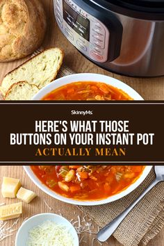 Your dreams have officially come true! You finally got that Instant Pot and it's time to start whipping up a few delicious meals. But how, exactly, do you work this thing? Here's what you need to know! Healthy Cooking, Cooking Tips, Delicious Meals, Yummy Food, Skinny Ms, Kitchen Hacks, Lunches, Cool Kitchens, Instant Pot