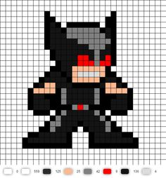X-Force Wolverine Perler Bead Pattern
