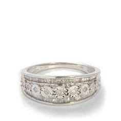 White Diamond Ring in 10k White Gold 0.50ct | AFKS04 | Gemporia