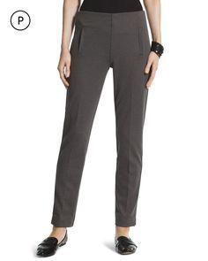 Chico's Women's Petite Double Dot Ponte Ankle Pants