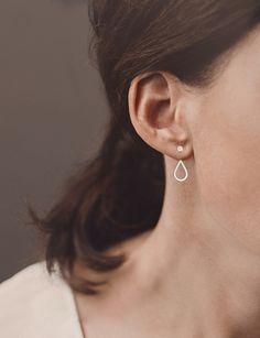 Tropfen-Ohrhänger in Silber für hinters Ohr von Christina Pauls auf DaWanda.com