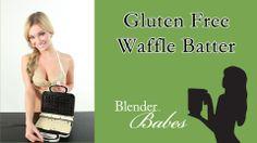 Gluten-free Pancake Waffle Batter. @BlenderBabes www.blenderbabes.com #vitamix #blendtec #recipe #panacake #waffle #batter #glutenfree