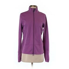 Pre-owned Zella Track Jacket Size 8: Purple Women's Jackets &... ($27) ❤ liked on Polyvore featuring outerwear, jackets, purple, purple jacket, zella jacket and zella