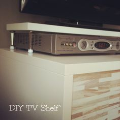Super Easy Tv Shelf So Cable Box Can Sit Under The Tv And The Cabinet Doors  Remain Shut. 1 Shelf And 4 Door Stoppers