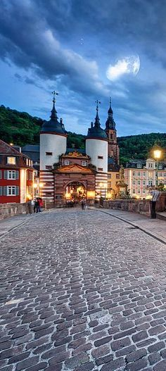 Heidelberg, Germany, is a popular tourist destination due to its romantic and picturesque cityscape, including Heidelberg Castle and the baroque style Old Town.
