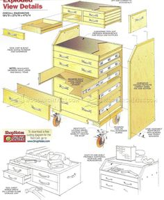 #324 Slant-Front Tool Cart Plans - Workshop Solutions Plans, Tips and Tricks