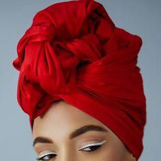 Fanm Djanm Rubi Headwrap #FanmDjanm #Red #Passion #Beauty #Bold #Makeup