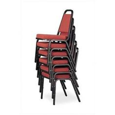 Virco Rectangular Back Banquet Chair with Cushion Frame Finish: Mocha, Seat Finish: Black