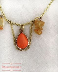 Spring Crystal Necklace by GoldMoonJewelry on Etsy