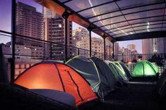 Em São Paulo é possível acampar no topo de um prédio