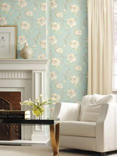 Pattern: :: Book: Heritage Home by Park Place Studio and York :: Wallpaper Wholesaler Modern Wallpaper, Designer Wallpaper, Cottage Wallpaper, Relaxing Colors, Cottage Living Rooms, Sweet Home, New Homes, Interior Design, House Styles