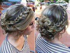 Fun braided updo for formal occasions!