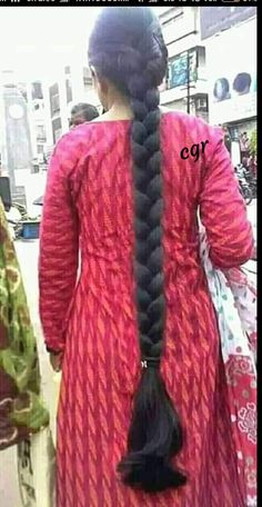 Indian Long Hair Braid, Long Hair Ponytail, Braids For Long Hair, Hair Plaits, Long Silky Hair, Super Long Hair, Big Hair, Beautiful Braids, Beautiful Long Hair