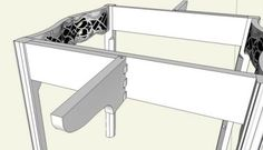 amazing kitchen island drop leaf | Details about old folding Shelf Bracket drop leaf table ...