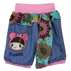 Sale 27% (5.89$) - Girl Summer Denim Shorts Kid  Jeans Shorts With Flower Lace