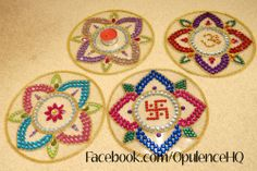Kundan rangoli tealight candle decoration handmade by Opulence. Also great for wedding decorations.  £10.00 OpulenceHQ@outlook.com