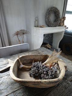 Oude stoere houten bak! www.stoer-stijlvol.nl