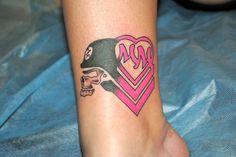 Metal Mulisha Maiden Tattoo.  Hot Pink and Black.