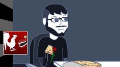 """Rooster Teeth Animated Adventures - El Pizza Bandido. """"are you eating his pizza?"""""""