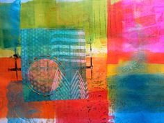 Blog and Video Tutorial: Gelli Printing on Fusible Interfacing... the material is soft and easy to sew, doesn't fray, and adds strength when fused to paper — an especially good thing when adding stitching by hand or machine on paper. Also, it has a translucent quality making it wonderful for layering over previous prints, text or images! It's an excellent collage material for paper or fabric projects...and great for adding printed elements to painted works on canvas or board!