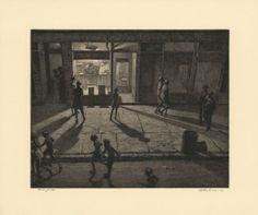 Moonlight Etchings of the Forgotten Artist who Taught Edward Hopper Edward Hopper, Landscape Prints, Abstract Landscape, Luxor, Bedford Street, Ocean Photography, Night Photography, Ocean Sunset, Greenwich Village