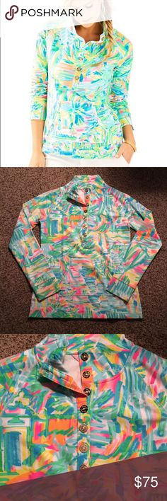 🆕 Lilly Pulitzer Captain Printed Popover Lilly Pulitzer UPF 50+ Captain Printed Popover in Multi Sea Salt And Sun. Gold buttons. BRAND NEW WITH TAGS. Size small. ❗️Sorry, I do not trade.❗️ Lilly Pulitzer Tops Sweatshirts & Hoodies