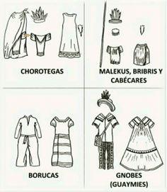 Ropa típica costarricense.