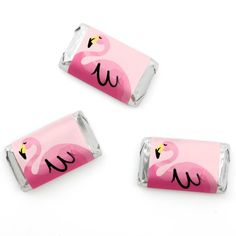 Flamingo - Party Like a Pineapple - Mini Candy Bar Wrappers Party Favors - 20…