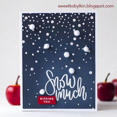 Sweet Kobylkin: Blue Ombre Winter Card with Pom Poms Card Making Tutorials, Winter Cards, Simon Says Stamp, Card Maker, Blue Ombre, Clear Stamps, Pom Poms, Instagram, Handmade Cards