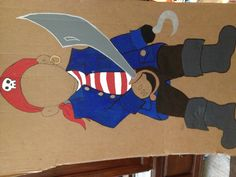 Pirate cut out for photo opportunity. Using in a little mermaid theme party where a lot of boys will attend.