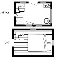 the nook ~ really small and easy to tow tiny house plans photo ... intriguing access to loft in upper left corner
