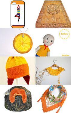 --Pinned with TreasuryPin.com Crochet Hats, Orange, Summer, Etsy, Knitting Hats, Summer Time, Summer Recipes