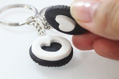 Best Friends Oreo Keychain Miniature Food Jewelry by Cutetreats